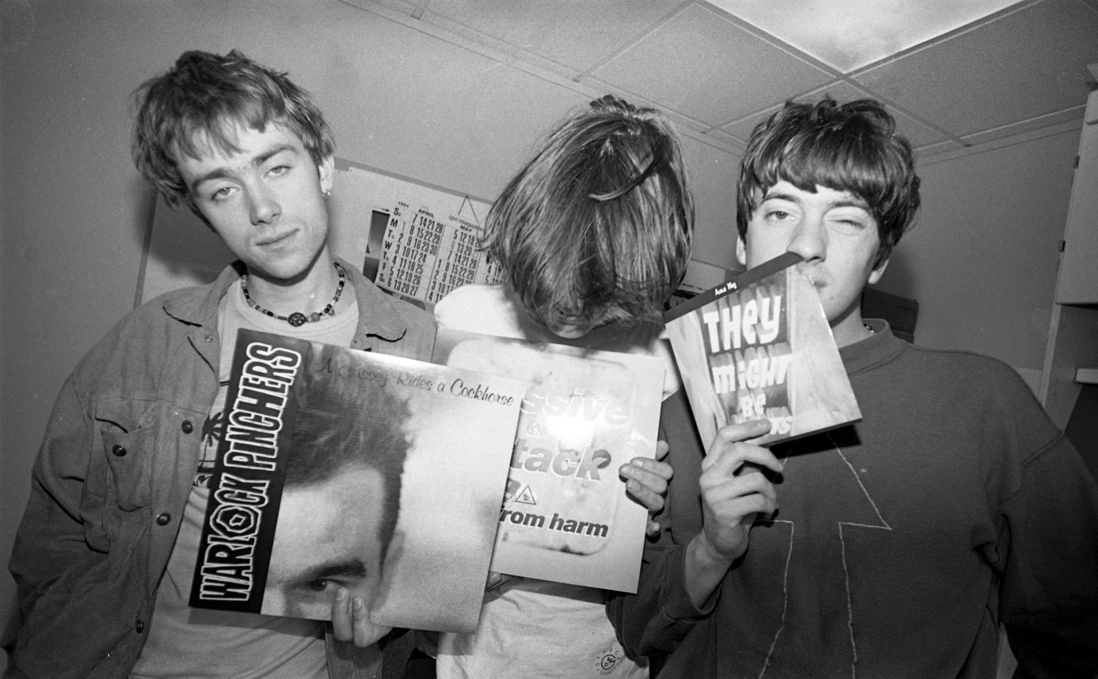 Blur Reviewing The Singles At The NME Office London 1991