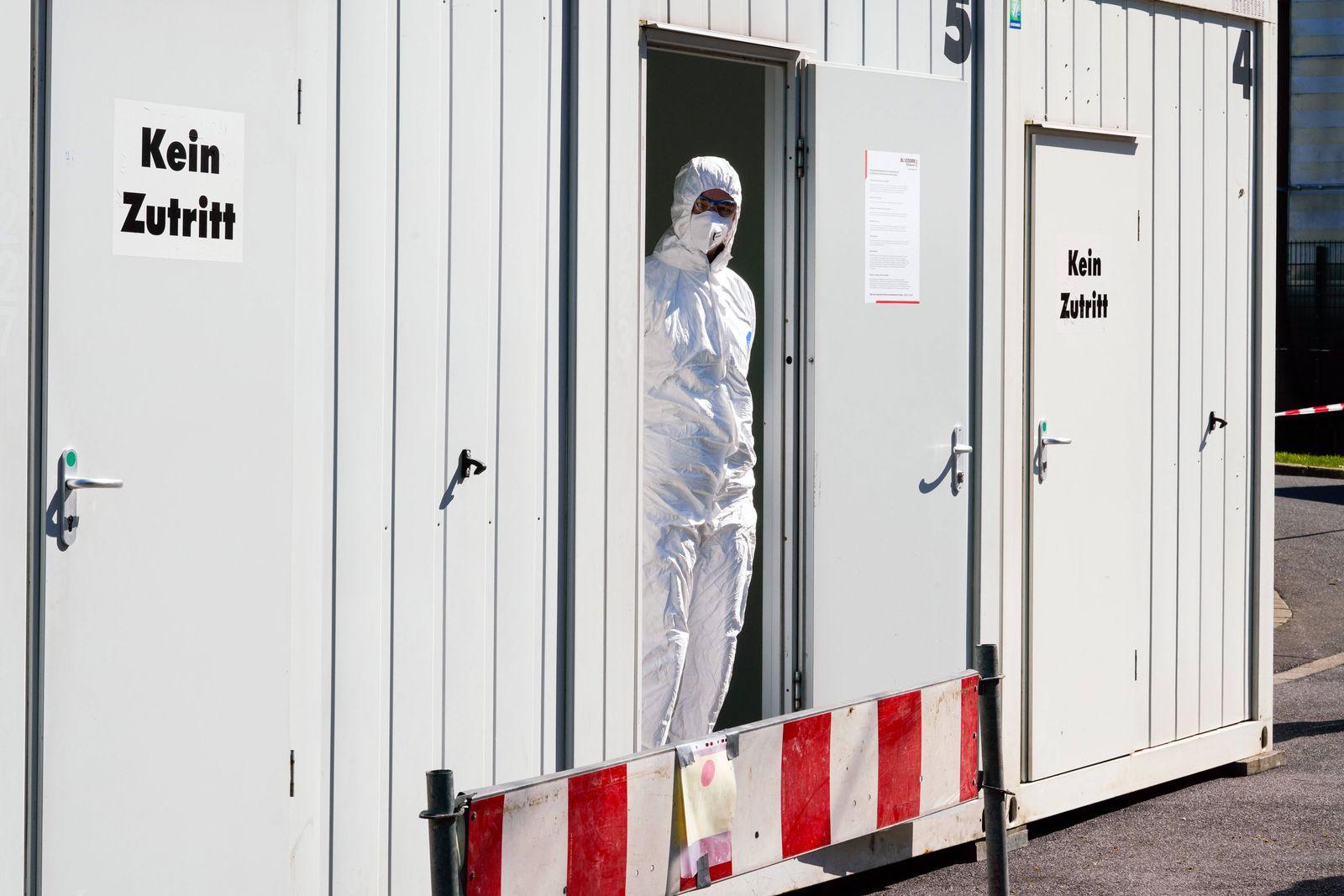 Dortmund, 31.3.2020: Am Klinikum Nord in Dortmund gibt es seit Samstag (21.3.2020) ein Corona-Testzentrum der Kassenärz