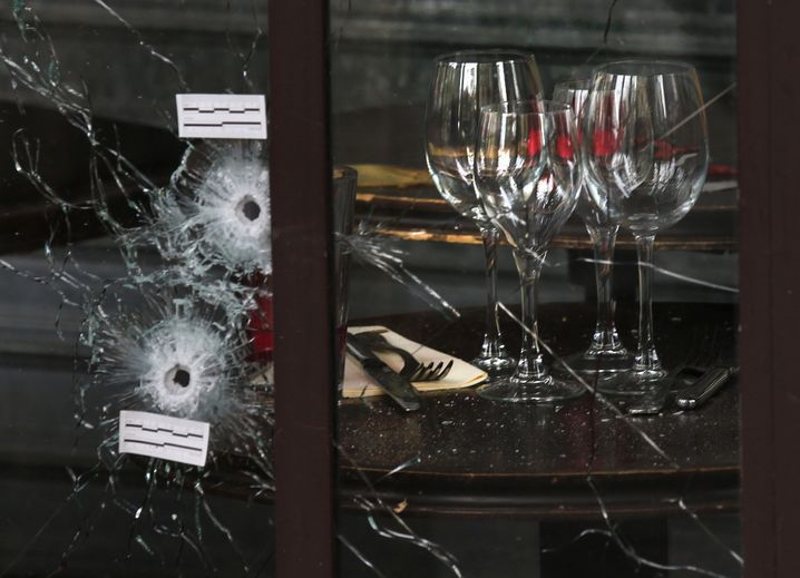 Anschlagsort Pariser Café, November 2015