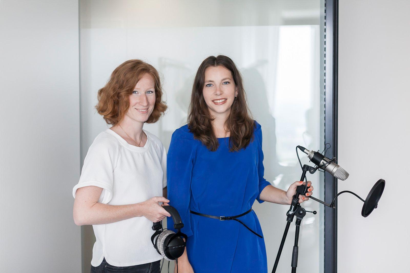 EINMALIGE VERWENDUNG Spiegel Online Portraits Podcast / Teresa Sickert und Angela Gruber