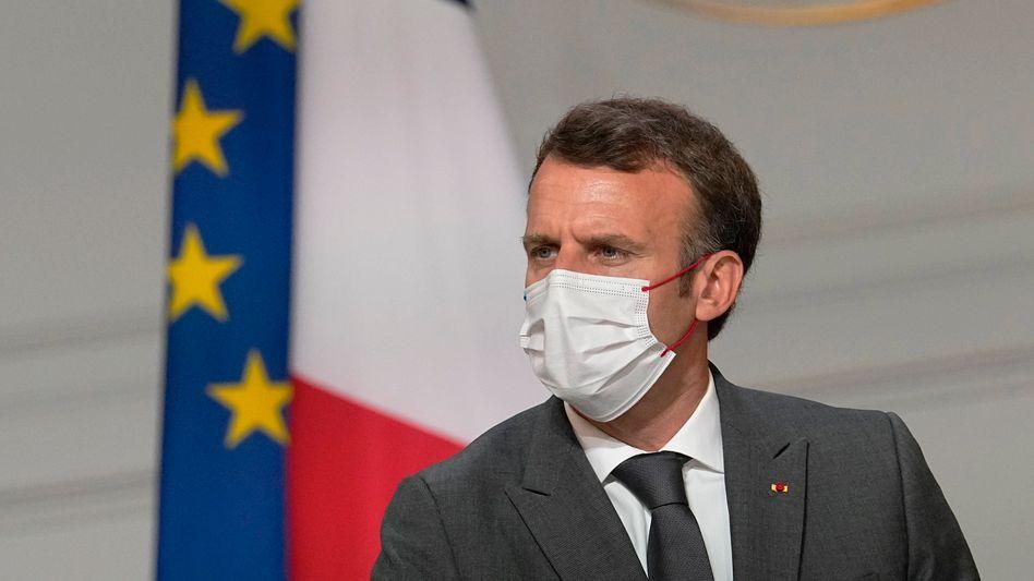 Präsident Macron am Montag in Paris