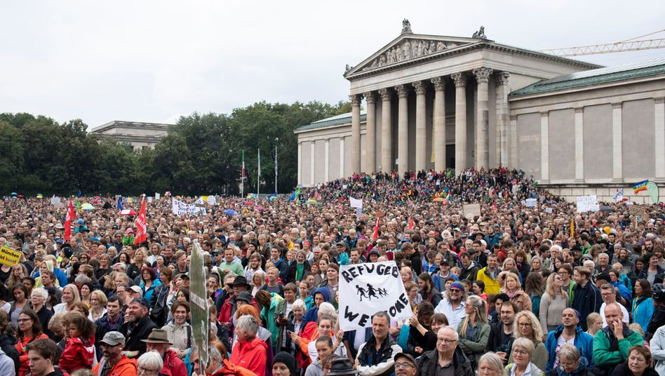 Demonstranten in München