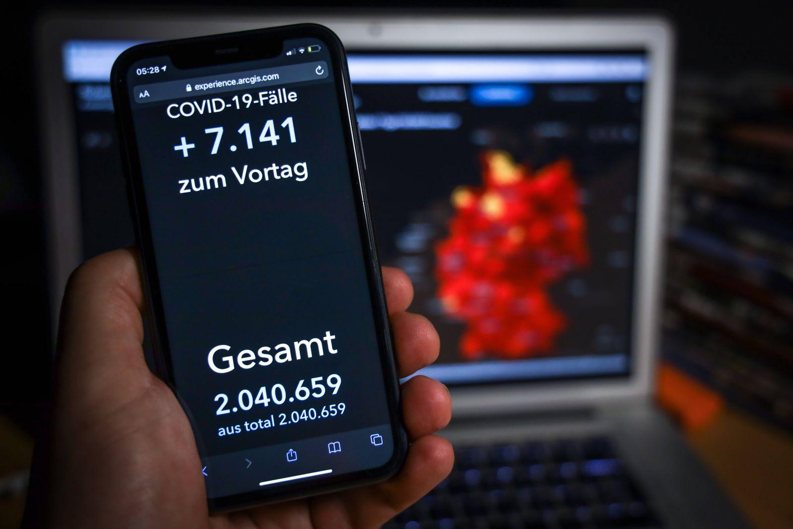 Coronavirus in Deutschland - Covid-19-Dashboard des Robert Koch-Institut 18.01.2021: Robert Koch-Institut: COVID-19-Fäl