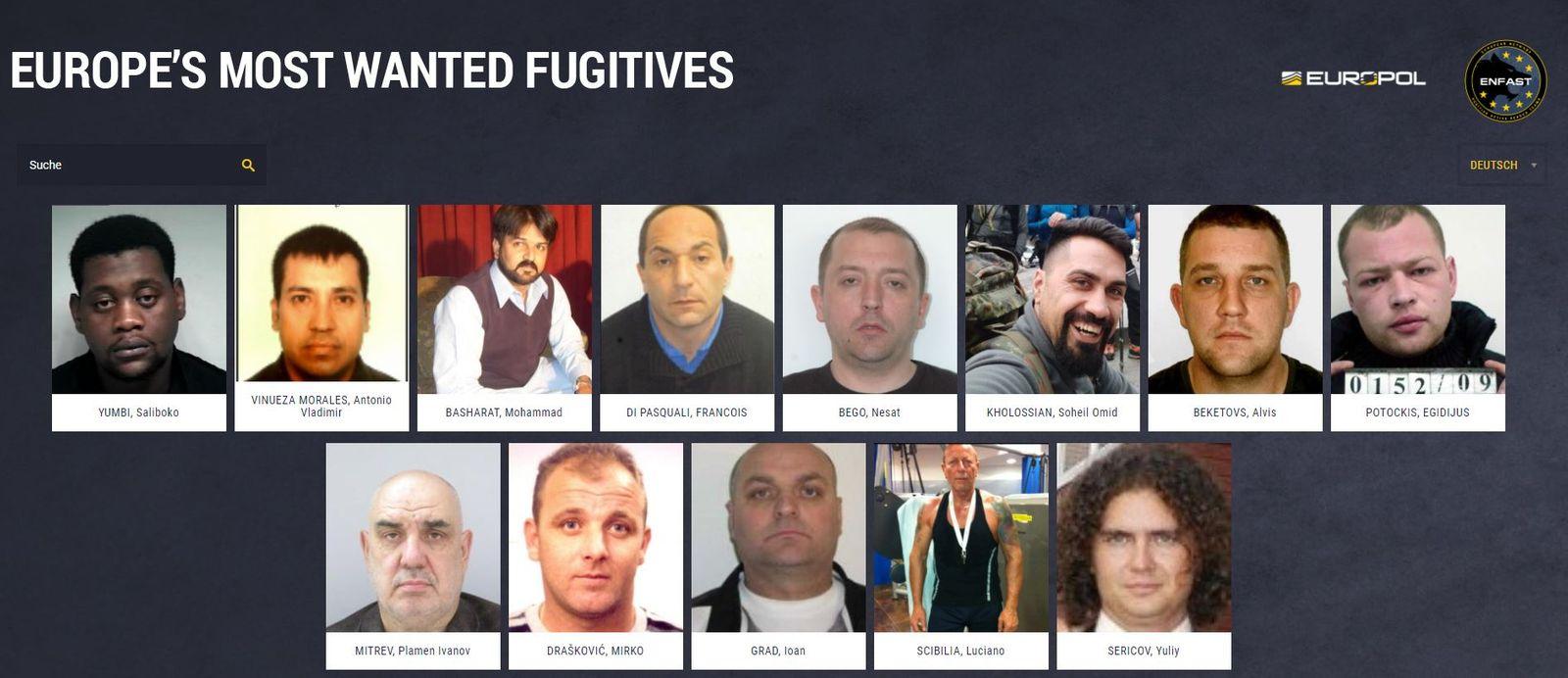 «Most Wanted»: Europol sucht gefährlichste Sexualverbrecher