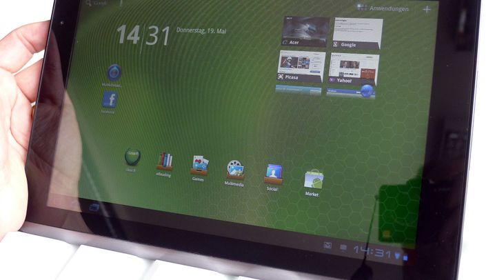 Honeycomb-Tablets im Vergleich: Acer Iconia A500