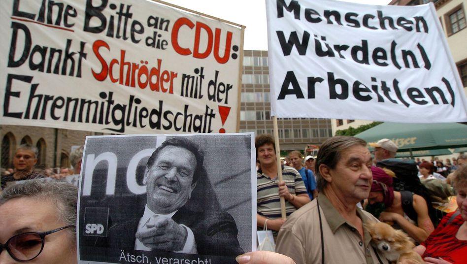 Anti-Hartz-Demo im Jahr 2004: Kein Wundermittel
