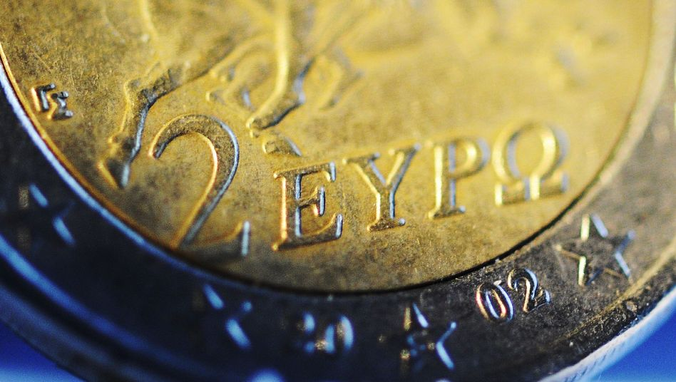 A Greek euro coin. Are the country's days as a member of the euro zone numbered?