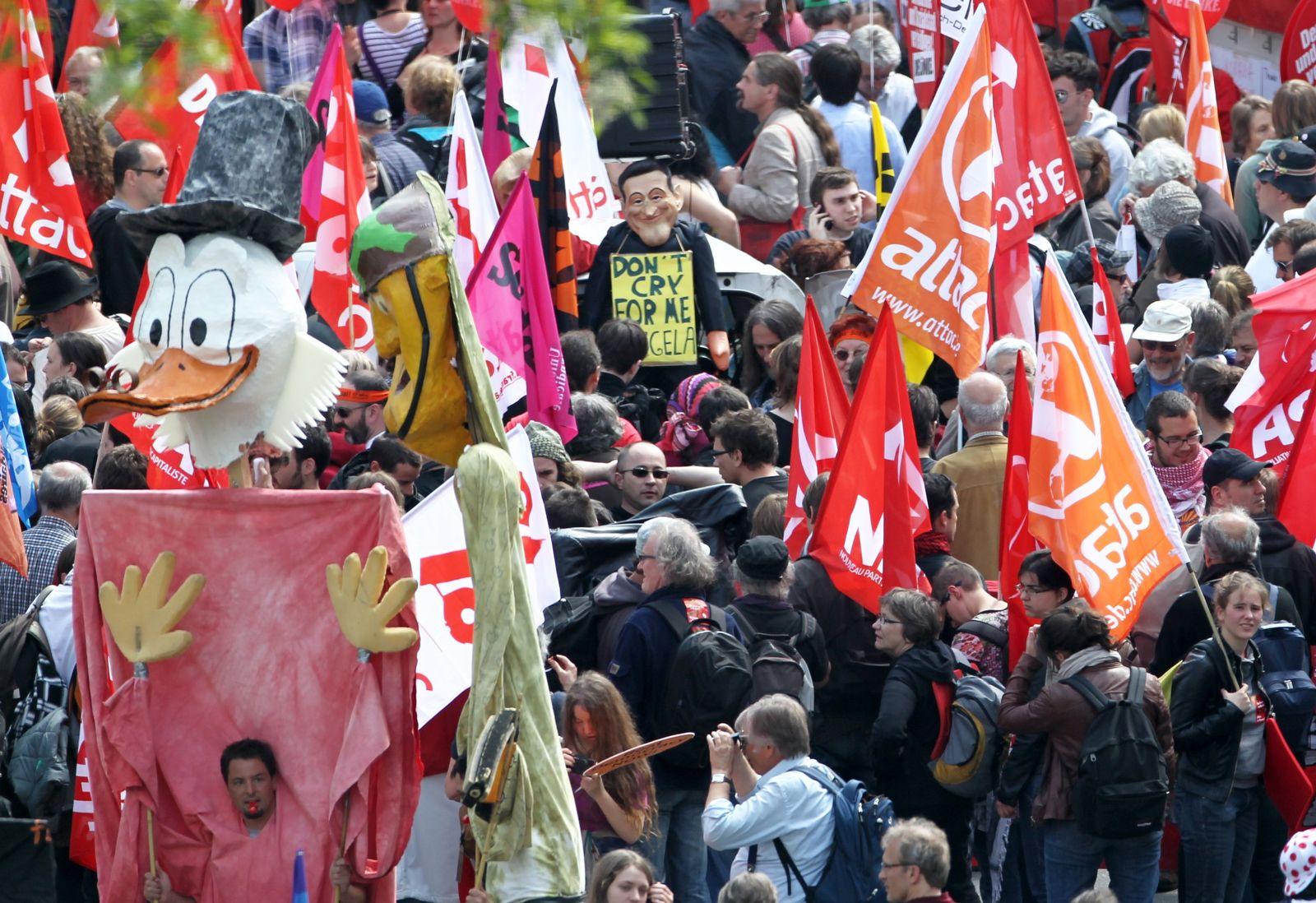Blockupy/ Proteste/ Frankfurt