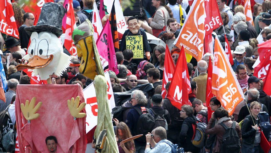 Blockupy-Großdemo in Frankfurt am Main: Mit Dagobert gegen den Kapitalismus
