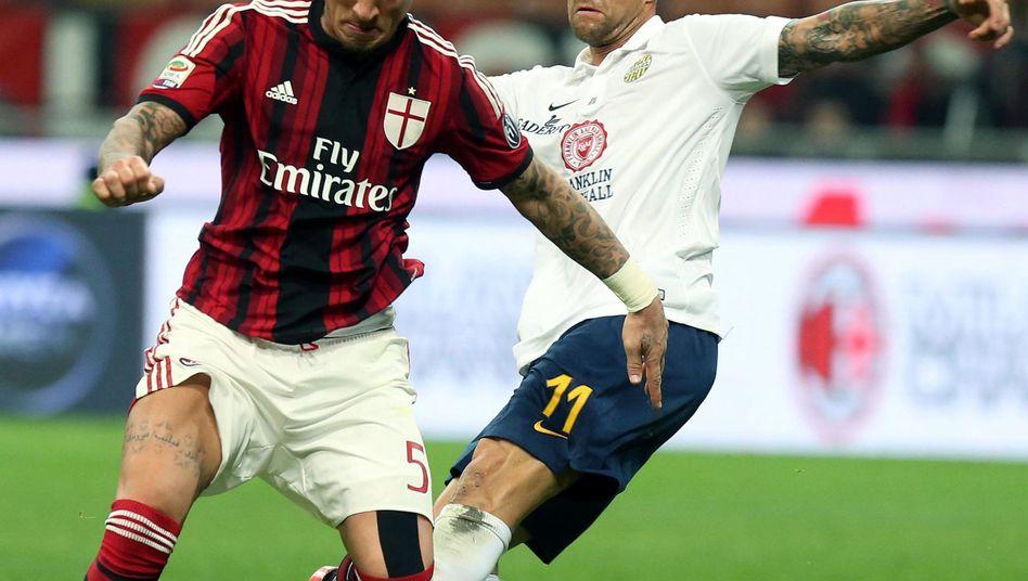 Torschütze Mexes (l.): Kein Sieg gegen Hellas Verona