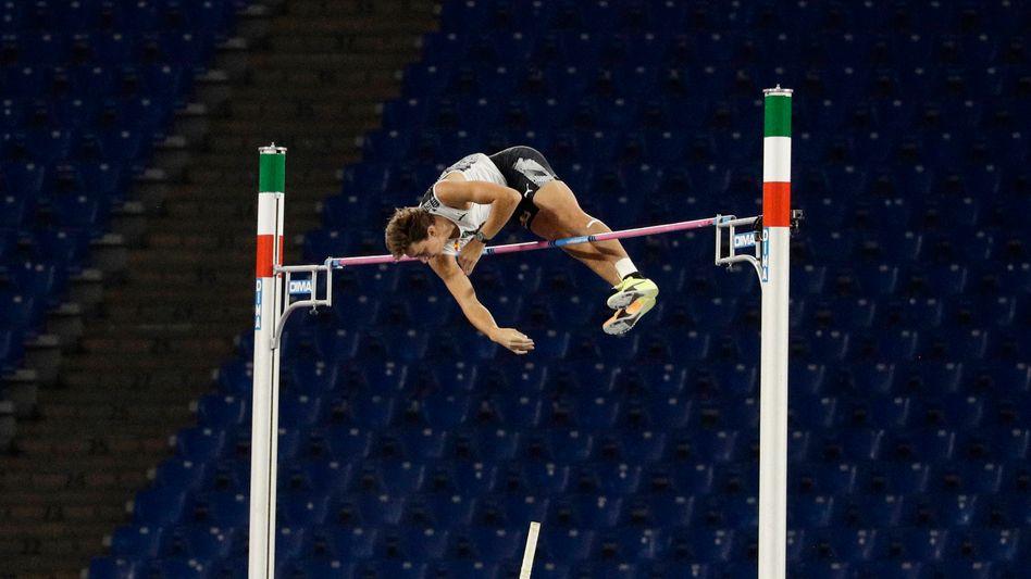 In Rom den Freiluft-Weltrekord geknackt: Armand Duplantis