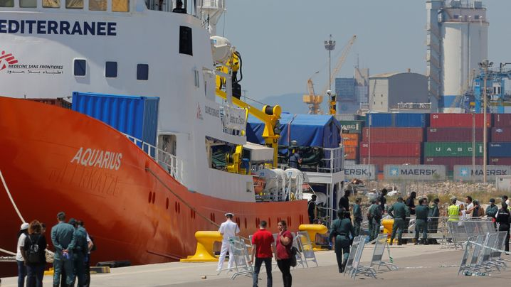"Valencia: Die Ankunft der ""Aquarius""-Flüchtlinge"