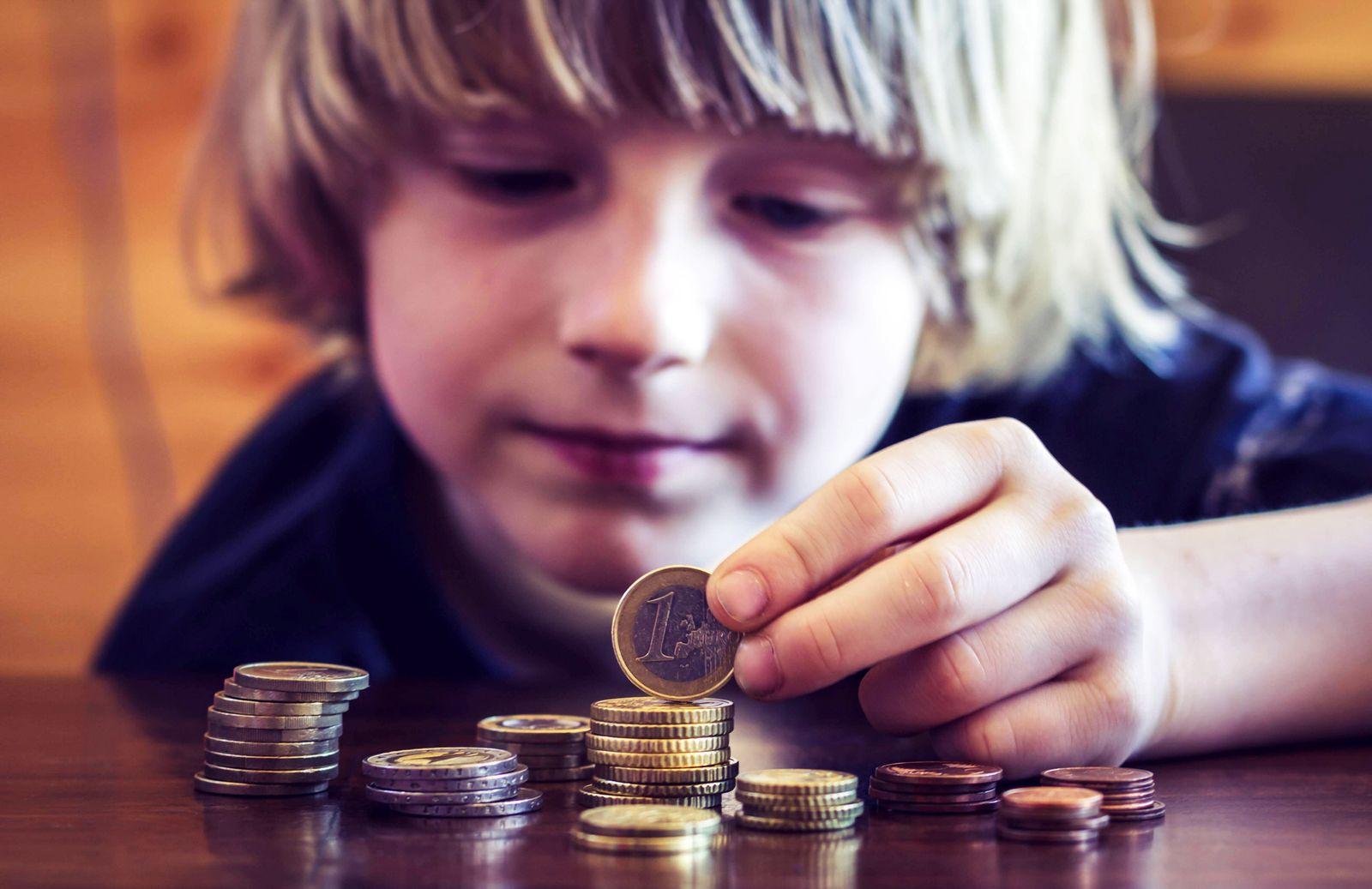 EINMALIGE VERWENDUNG Kinder Taschengeld