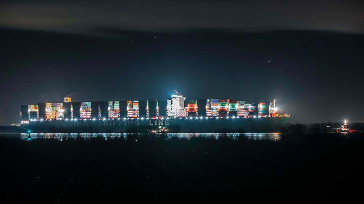 Elbe: Havarie vor dem Hamburger Hafen