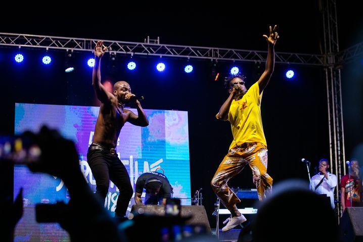 Afrochella-Festival: Im vergangenen Jahr trat unter anderem Ghanas bekannter Dance-Hall-Musiker Shatta Wale (r.) auf