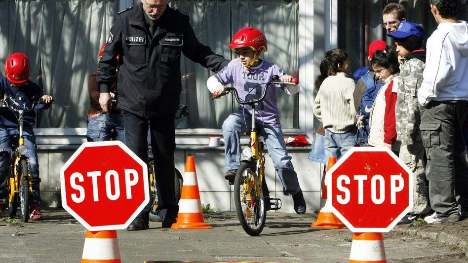 Radverkehrsübung für Kinder in Hamburg (Symbolbild)