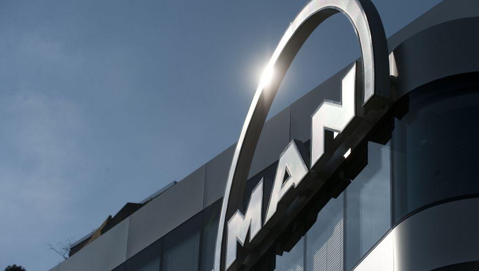 MAN-Logo: Der Kurs sank unter den Angebotspreis
