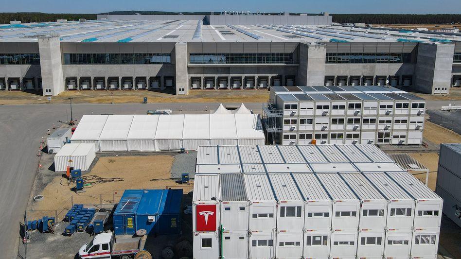 Tesla-Fabrik in Brandenburg: Hier sollen bald jährlich rund 500.000 Autos entstehen