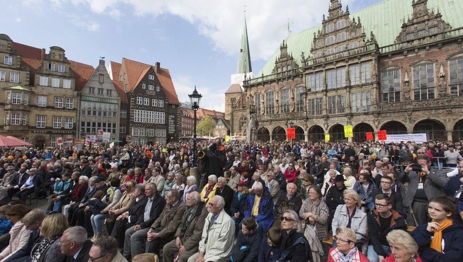 Wahlkampf am Bremer Rathaus: Aufbruchstimmung? Fehlanzeige