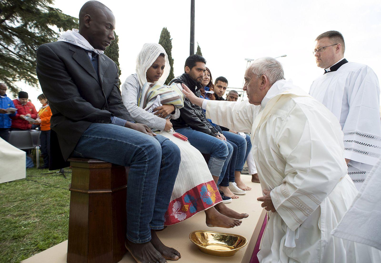 Papst Flüchtlinge