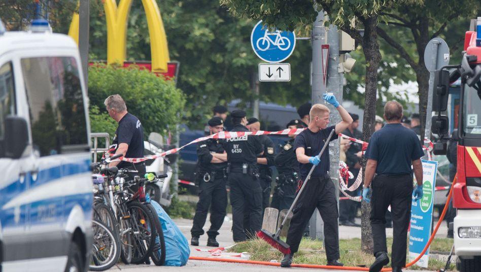 Polizei am Tatort in München