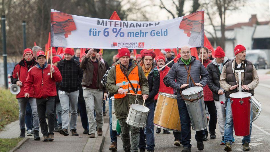 Warnstreik in Baden-Württemberg