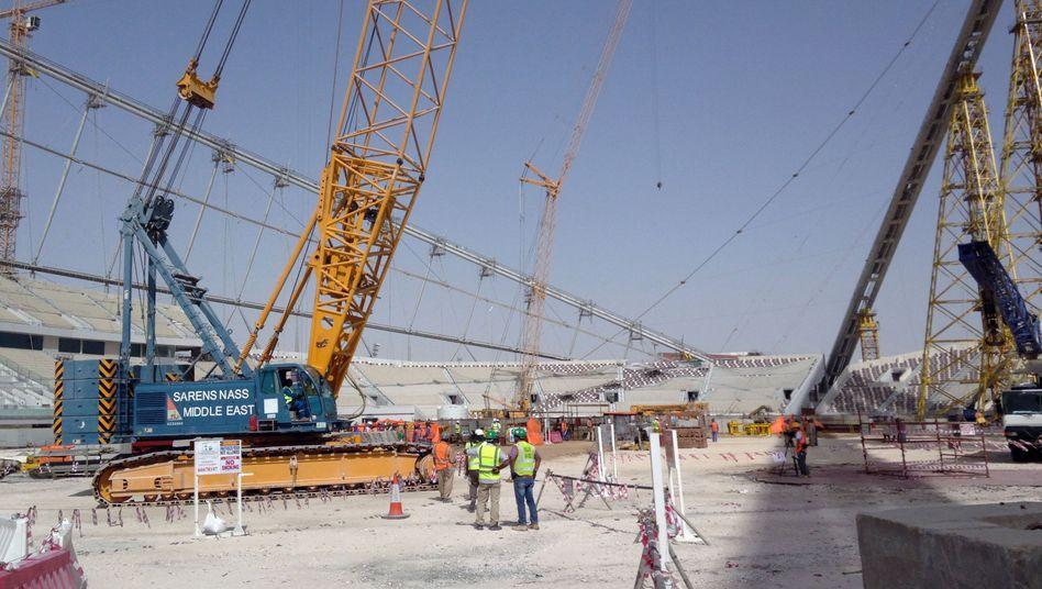 WM-Baustelle in Katar (November 2014): Alle zwei Tage ein Todesfall
