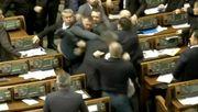 Faustschläge im ukrainischen Parlament
