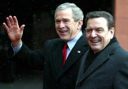 Bush und Schröder in Mainz: Ein Schwerpunkt der Gespräche lag auf dem Klimaschutz