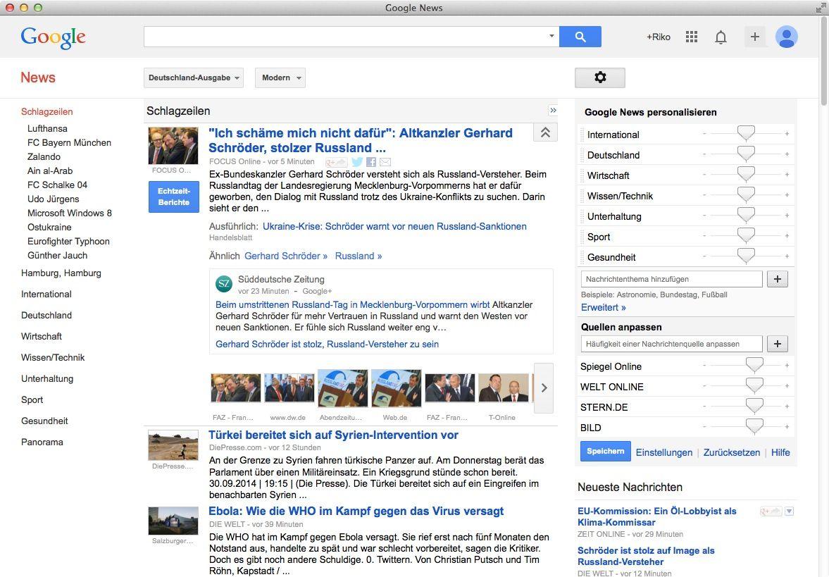 NUR ALS ZITAT Screenshot Google News
