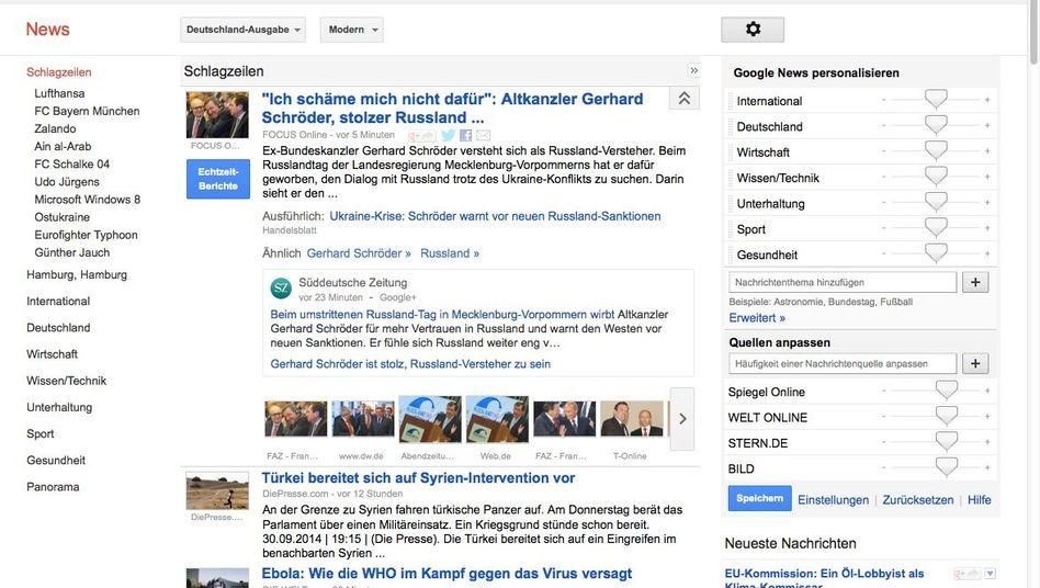 Google News (in Deutschland): Ein Angebot, mit dem viele Verleger gern Geld verdienen würden