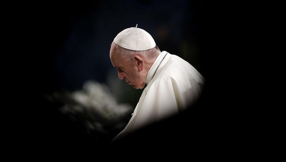 Papst Franziskus am vergangenen Karfreitag in Rom