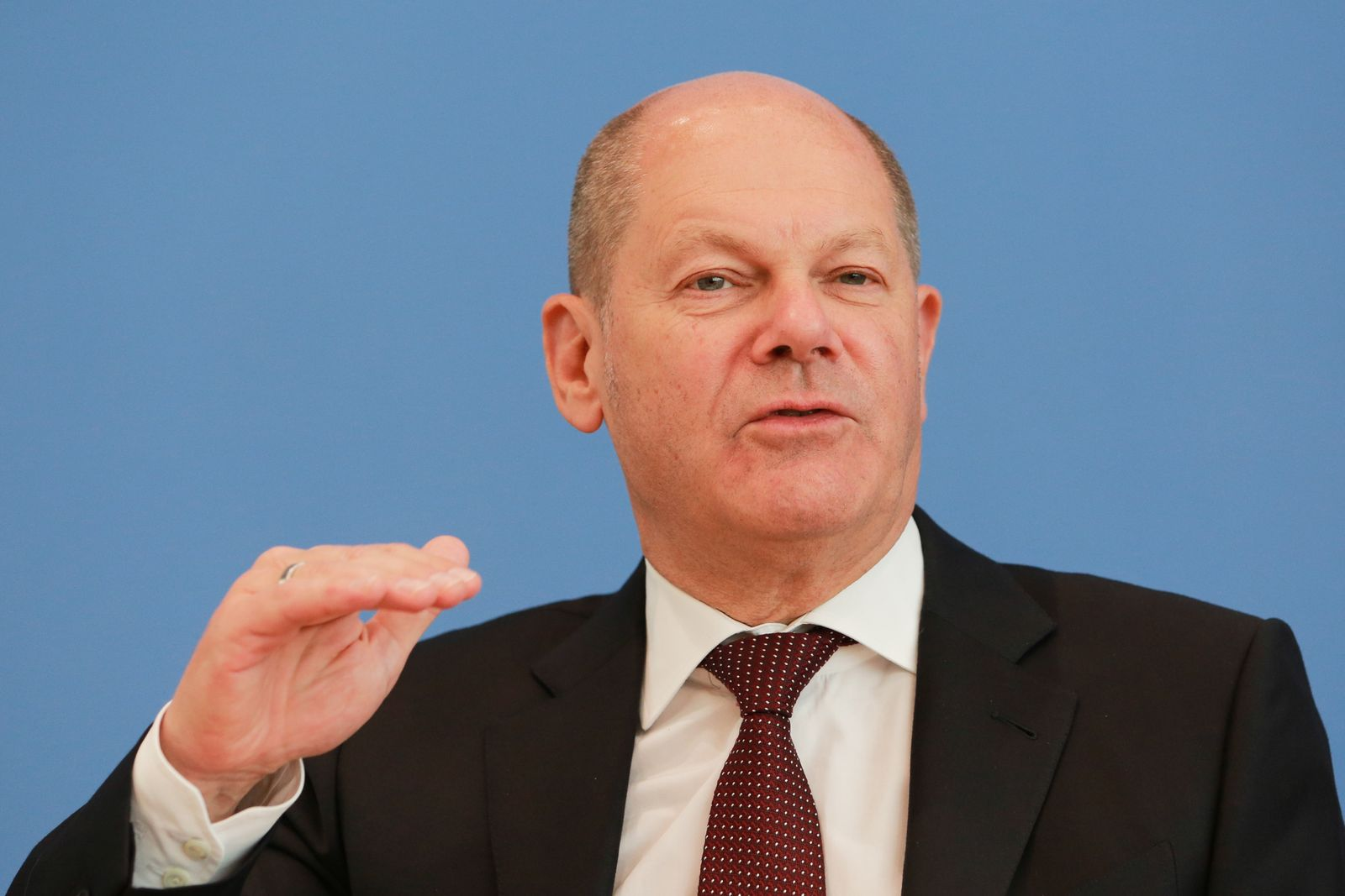 Finance Minister Scholz Announces Tax Revenue Predictions During The Coronavirus Crisis
