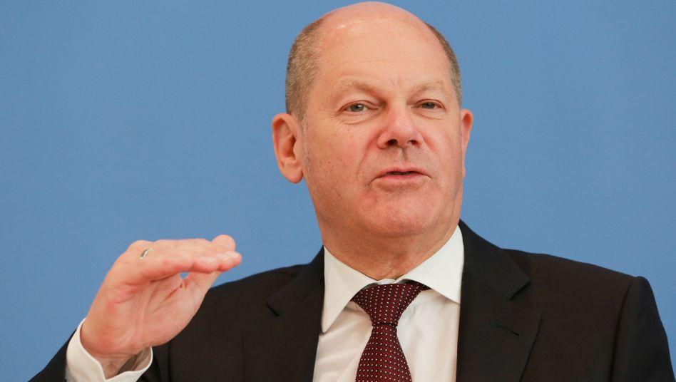 """Bundesfinaznminister Olaf Scholz am Mittwoch: """"Heute ist ein guter Tag für Europa"""""""