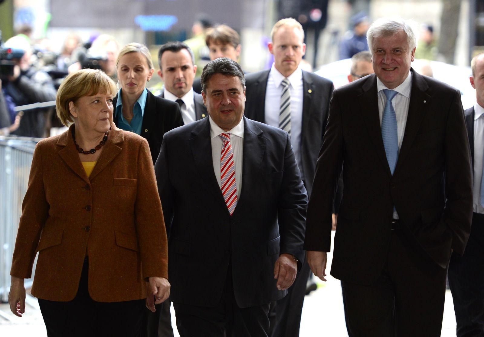 Merkel Gabriel Seehofer