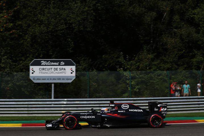Fernando Alonso bei seinem letzten Rennen in Spa