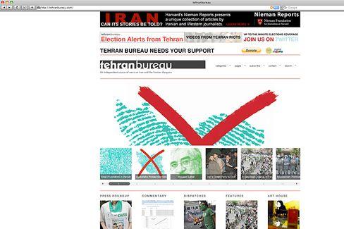 Tehranbureau.com: Social Web als Protestwerkzeug