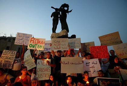 Lichterkette in Beirut: Trauer um Opfer von Kana