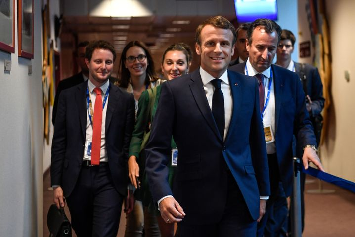 French President Emmanuel Macron is the EU leader who first suggested von der Leyen as the possible next European Commission president.