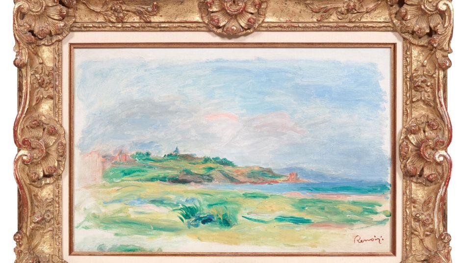 """Gestohlenes Renoir-Gemälde """"Golfe, mer, falaises vertes"""""""