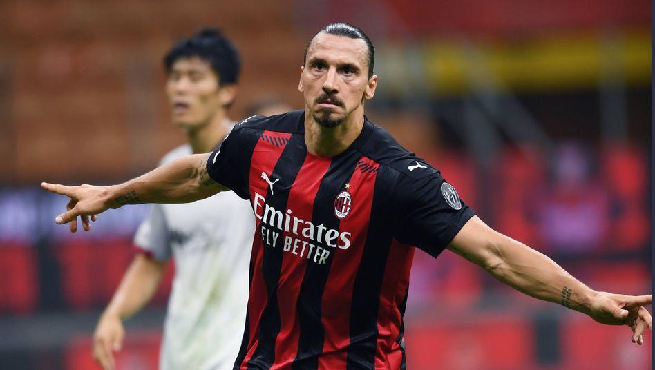 Zlatan Ibrahimovic liegt an der Spitze der Serie-A-Torschützenliste