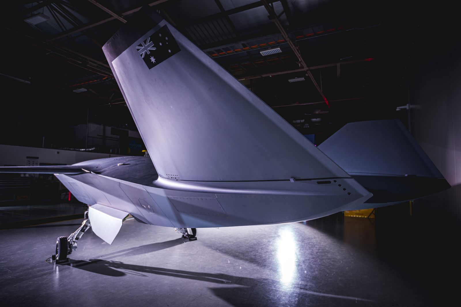Boeing's unmanned Loyal Wingman aircraft is seen in this handout picture obtained on May 5, 2020 in an undisclosed location in Australia.