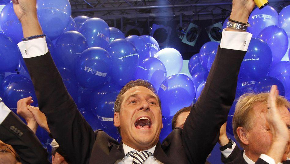 FPÖ-Frontmann Strache: Deutliche Zuwächse in der österreichischen Hauptstadt