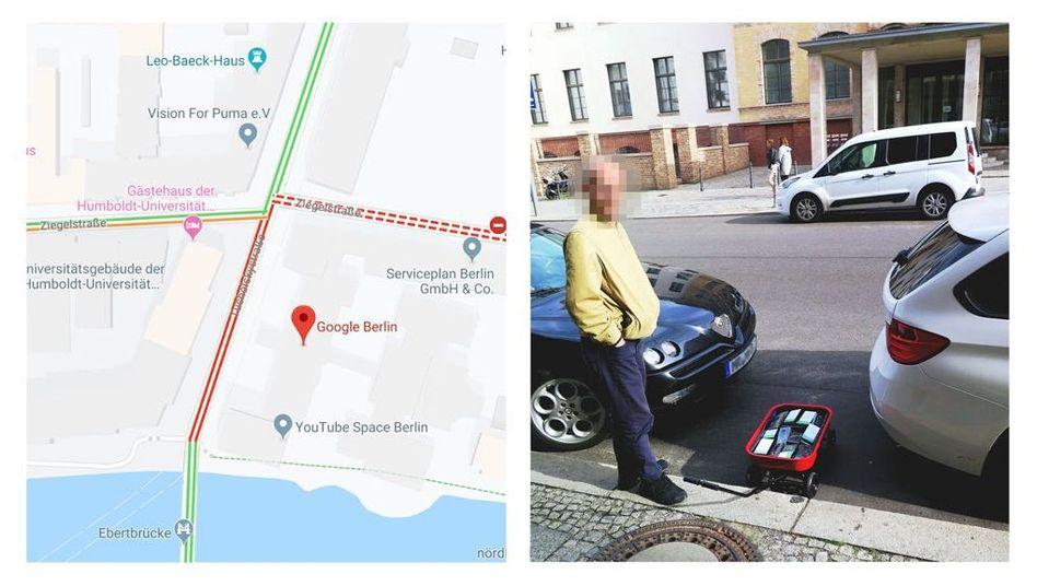 """Künstler Simon Weckert und sein """"Google-Maps-Hack"""""""