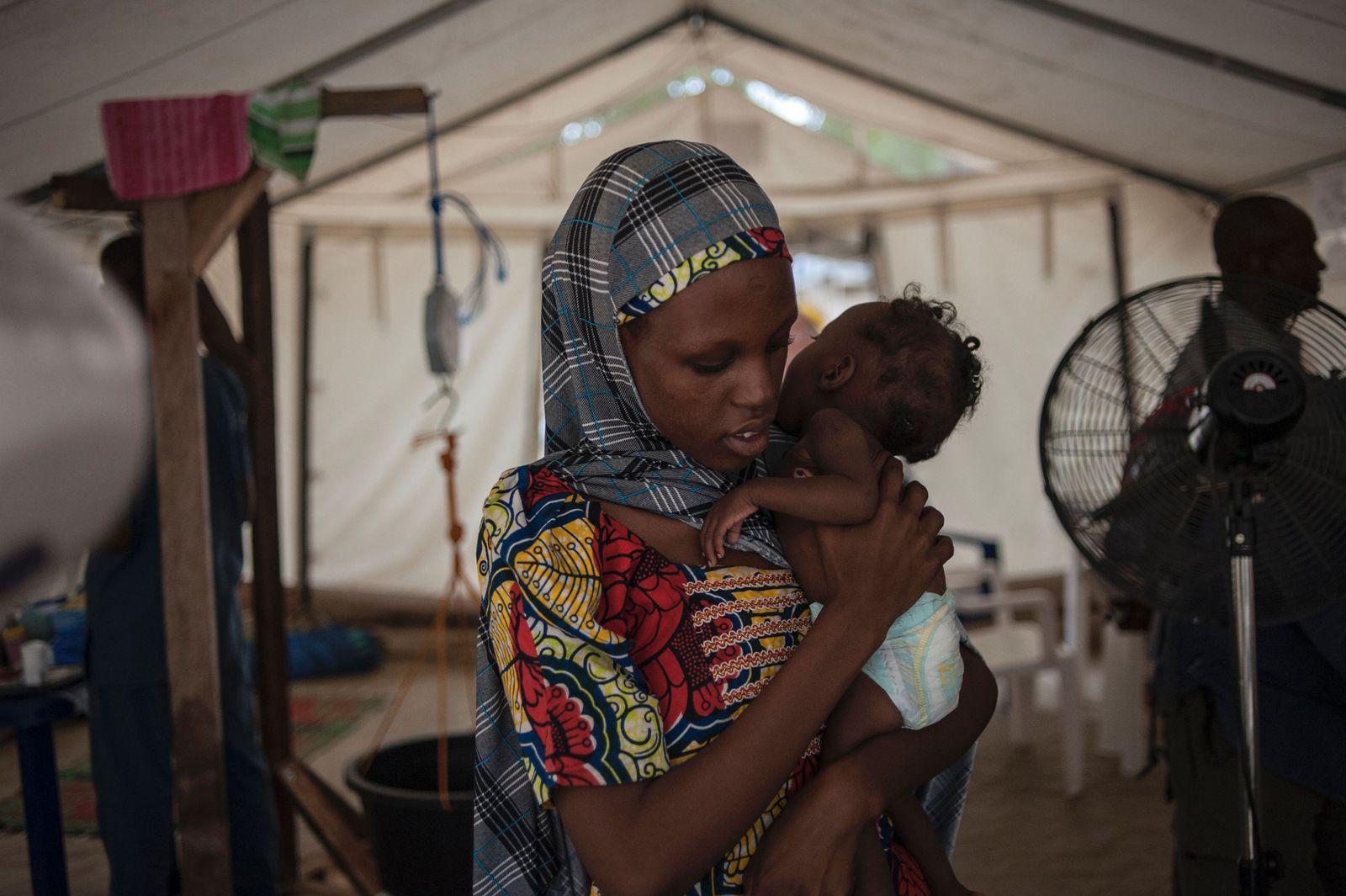 Maiduguri/ Nigerien/ Unterernährung