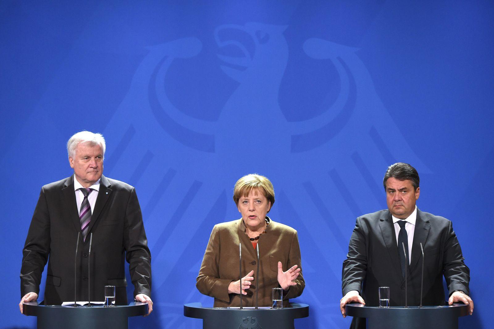 Horst Seehofer/ Angela Merkel/ Sigmar Gabriel