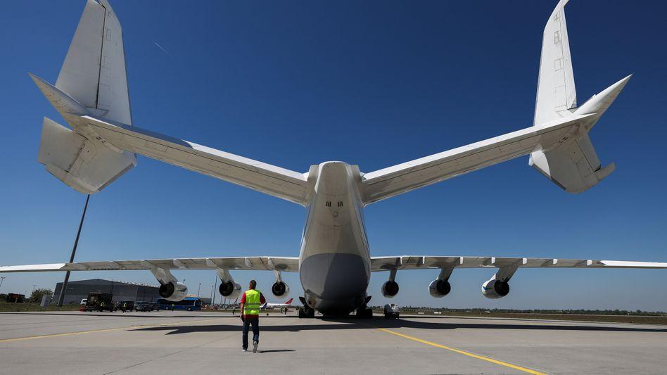 Antonov 225 auf dem Flughafen Leipzig (Archivbild): Für den dynamischen Markt nicht gut aufgestellt