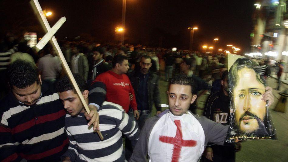 Proteste aufgebrachter Christen in Kairo: Ruf nach besserem Schutz