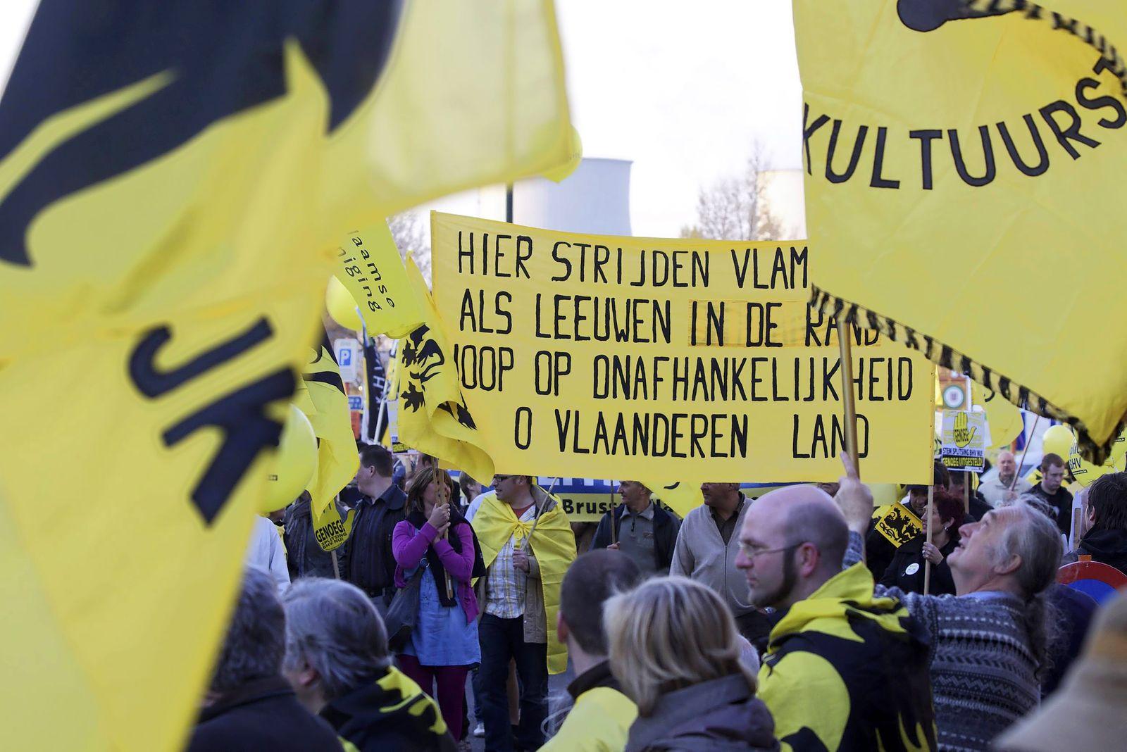 Belgien / Proteste / Brüssel-Halle-Vilvoorde