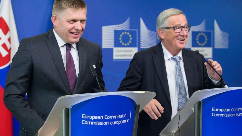 Robert Fico and Jean-Claude Juncker